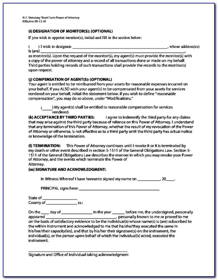 Fillable Power Of Attorney Form Ontario