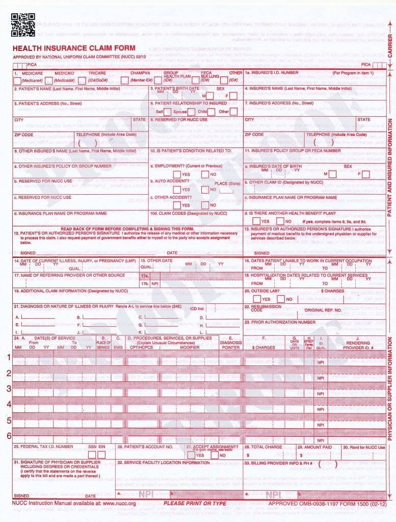 Fillable Ub 04 Forms