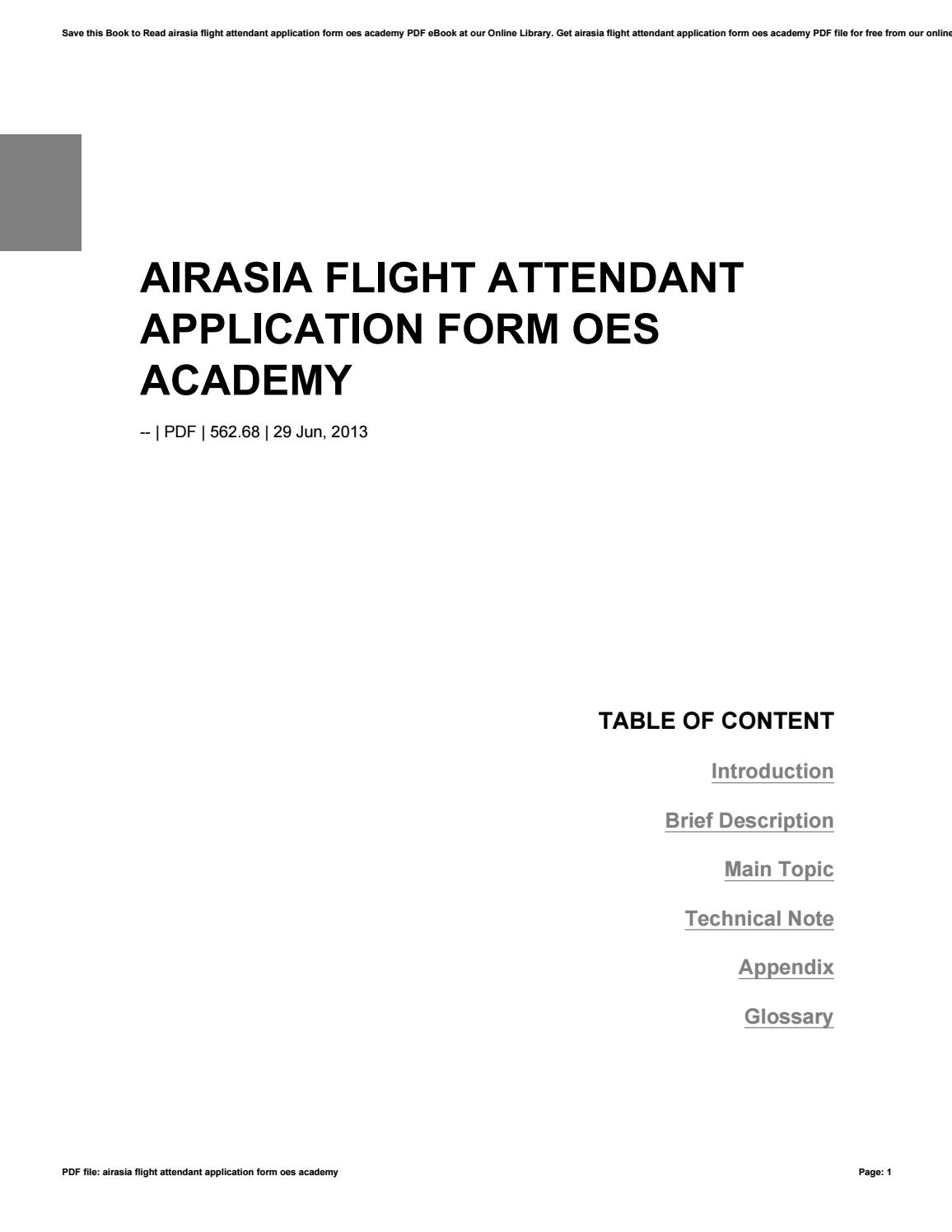 Flight Attendant Application Form Airasia