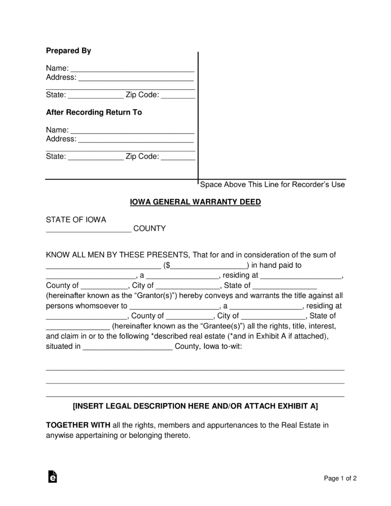 Florida Bar Warranty Deed Form