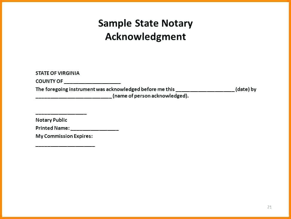 Florida Notary Template