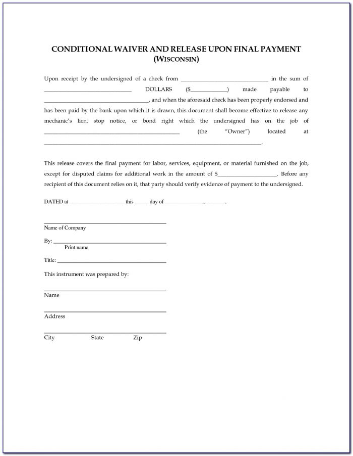 Florida Partial Lien Waiver Form