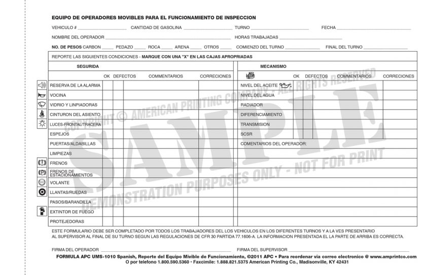 Forklift Inspection Checklist Forms