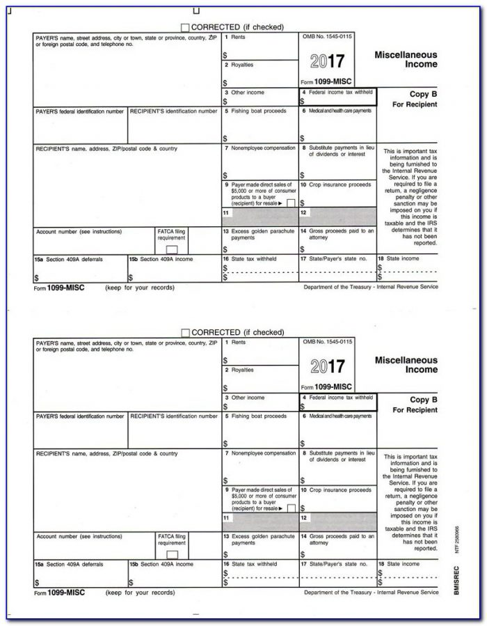Form 1099 Fillable 2016
