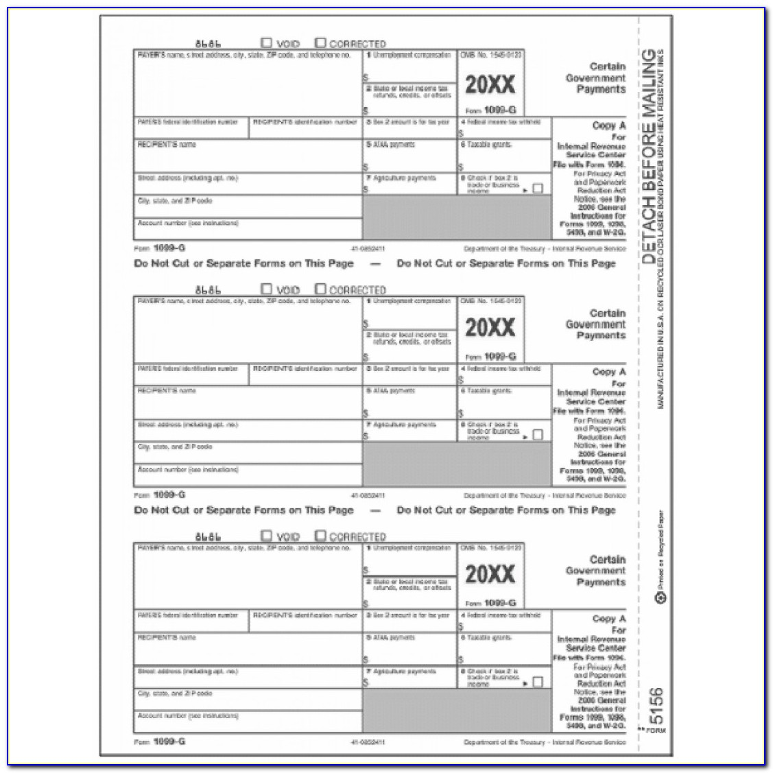 Form 1099 Int Printable