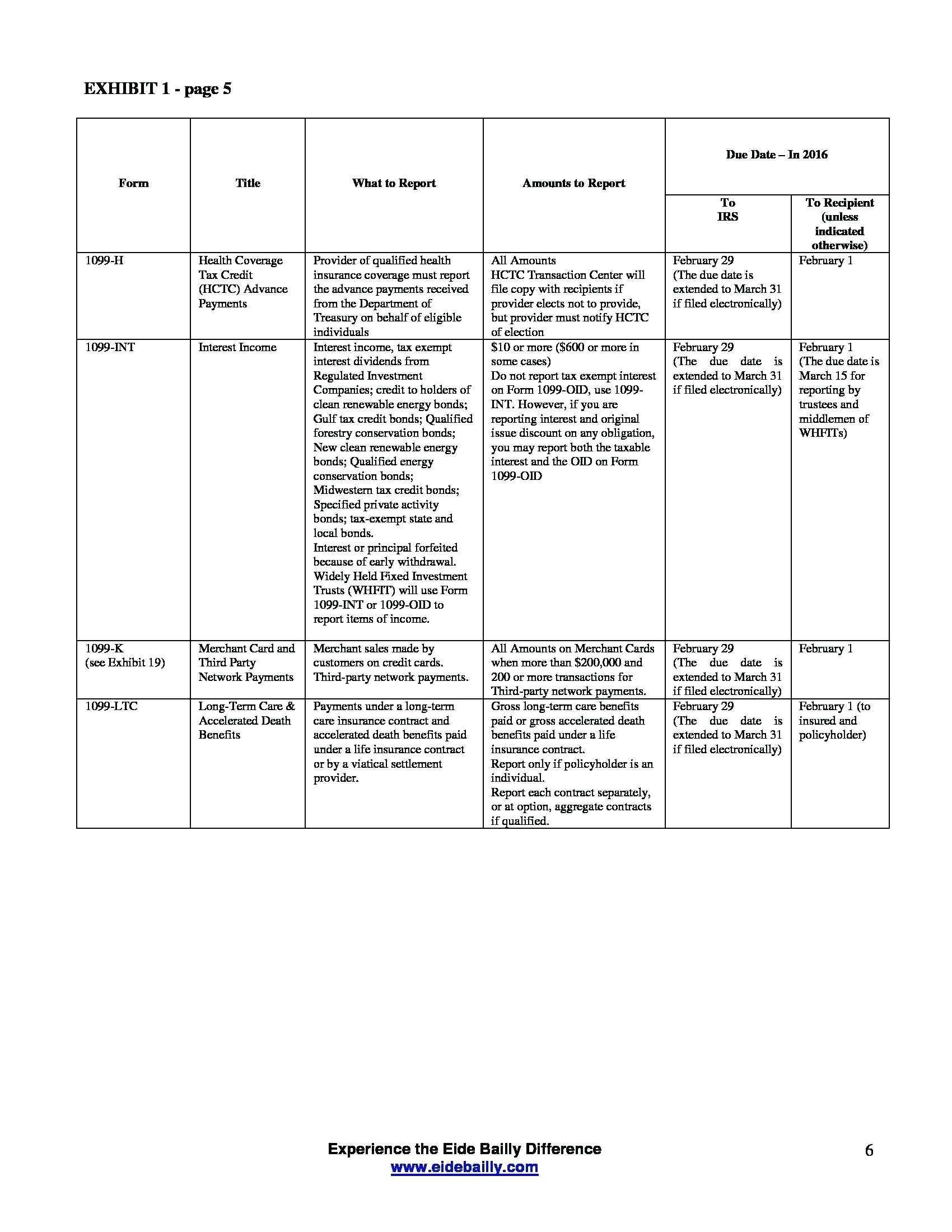 Form 1099 Ltc Tax Return