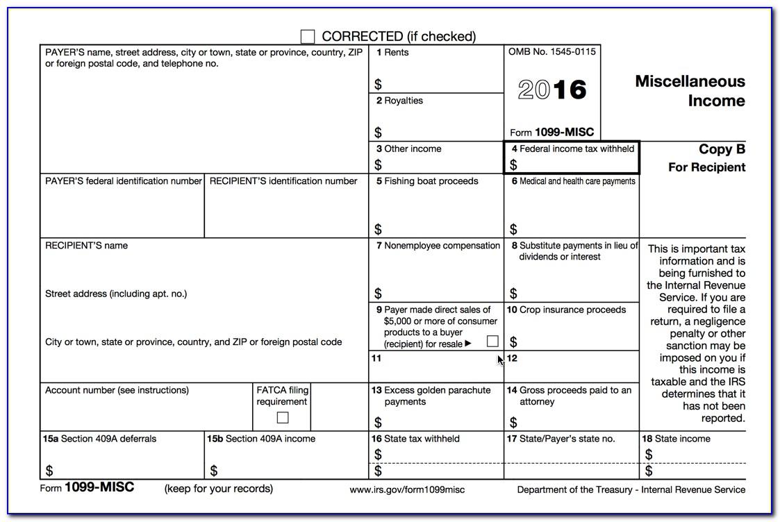 Form 1099 Misc 2016 Pdf