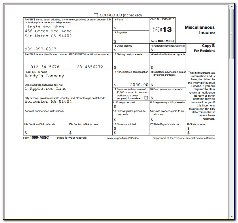 Form 1099 Misc Filing Deadline