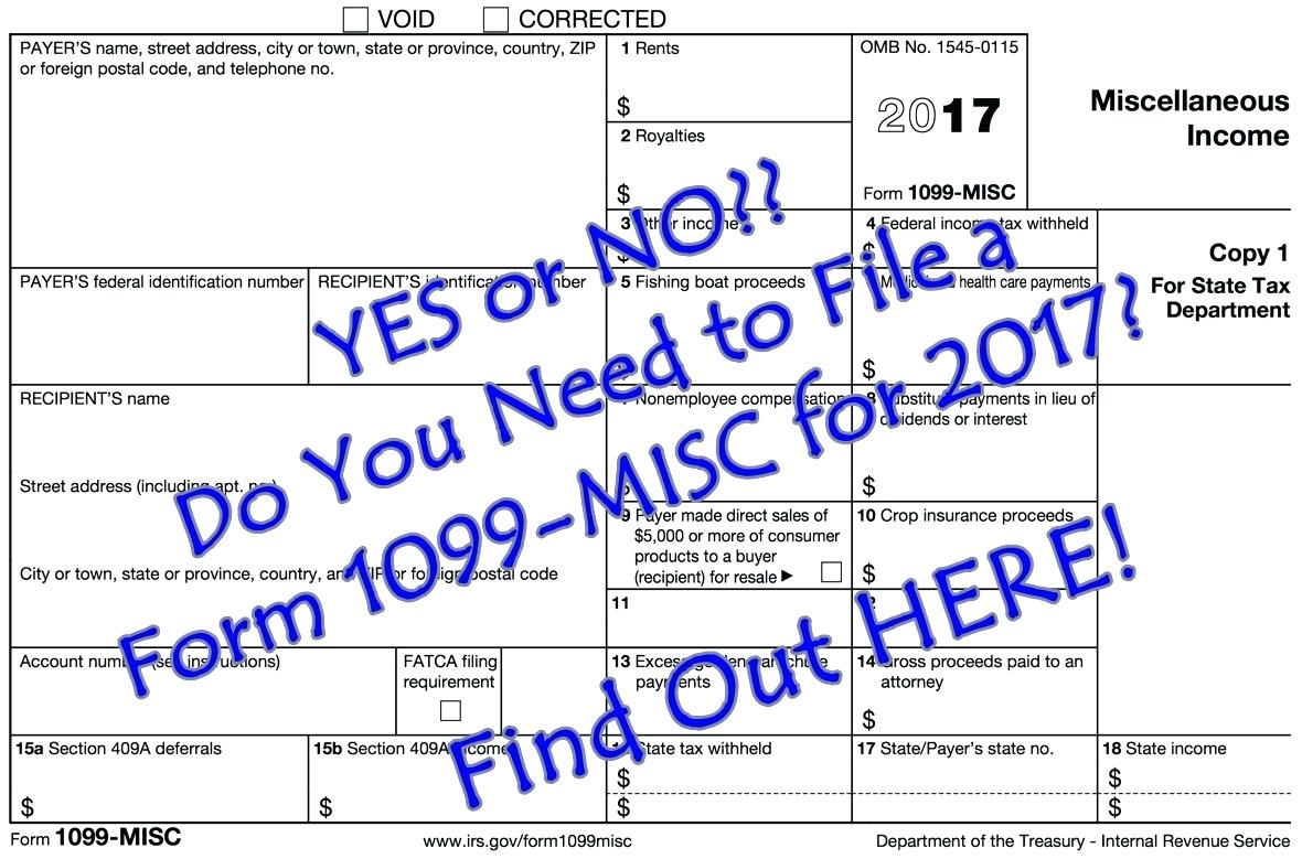 Form 1099 Misc Non Employee Compensation