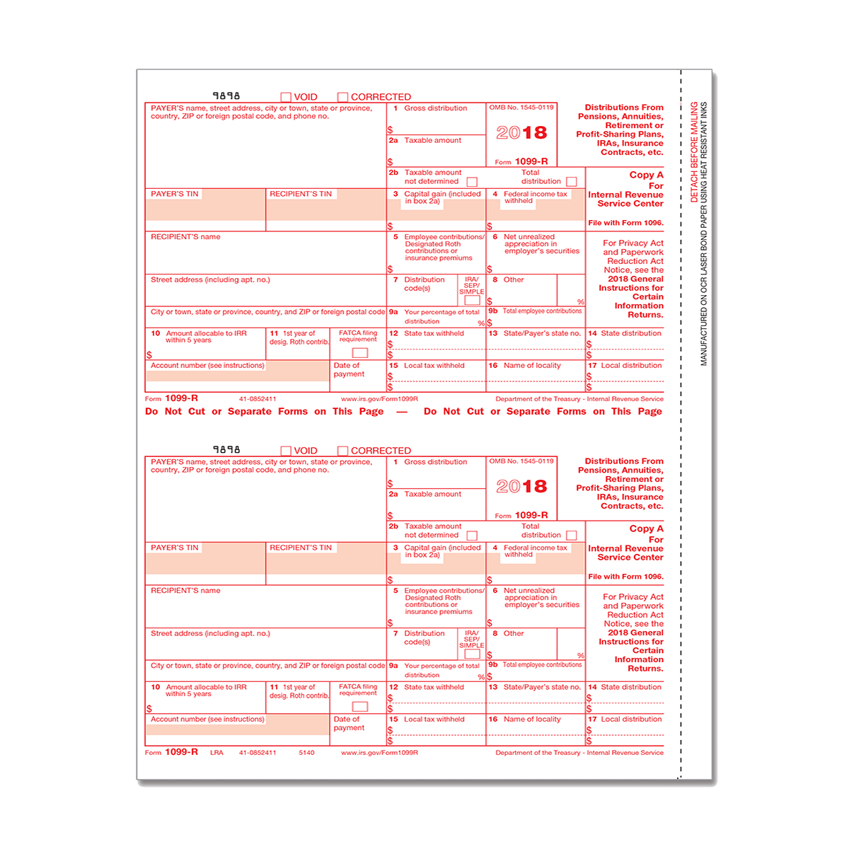 Form 1099 R Federal Income Tax Withheld