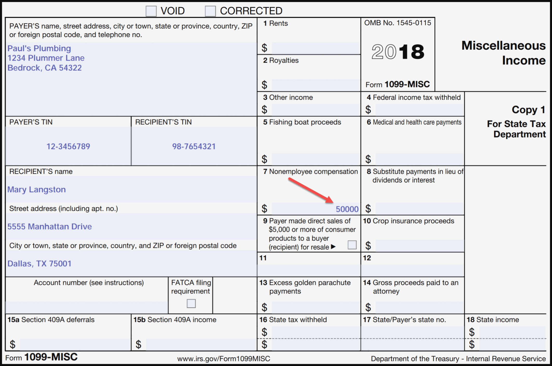 Form 1099 Tax Reporting