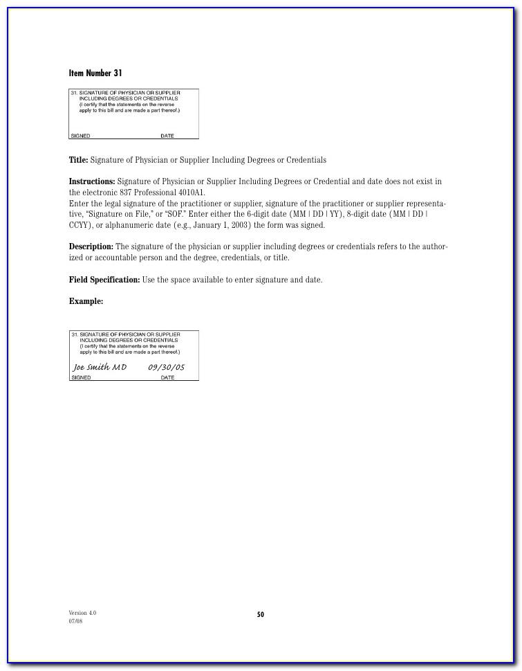 Form 1500 Medicare Instructions