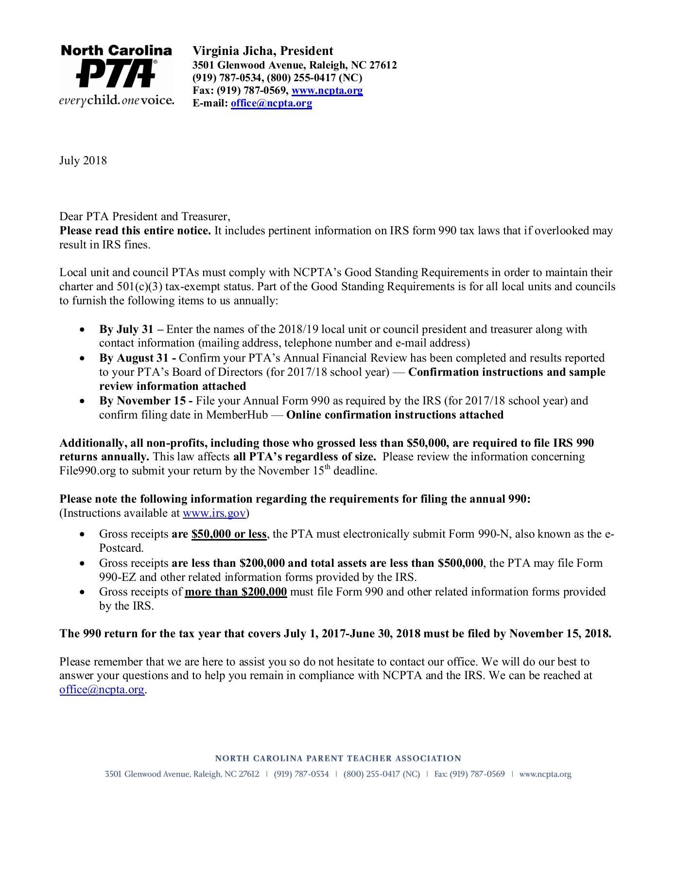 Form 990 Filing Deadline 2017