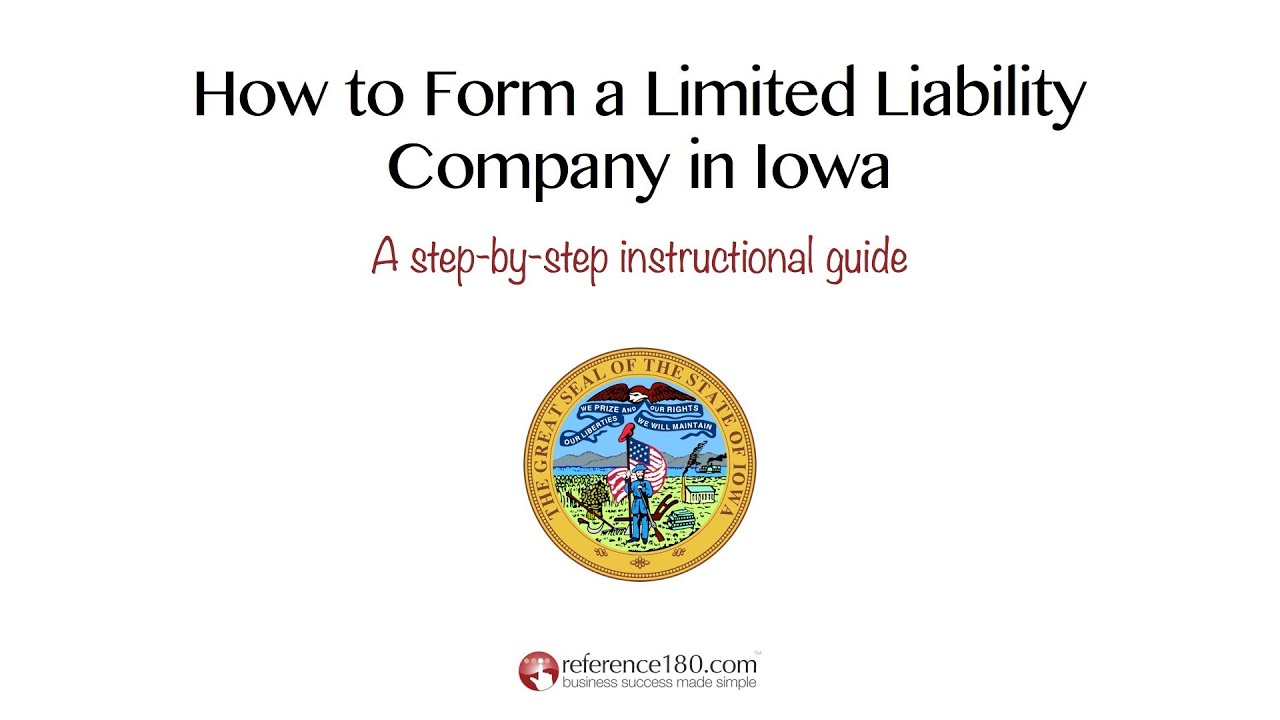 Form An Llc In Iowa