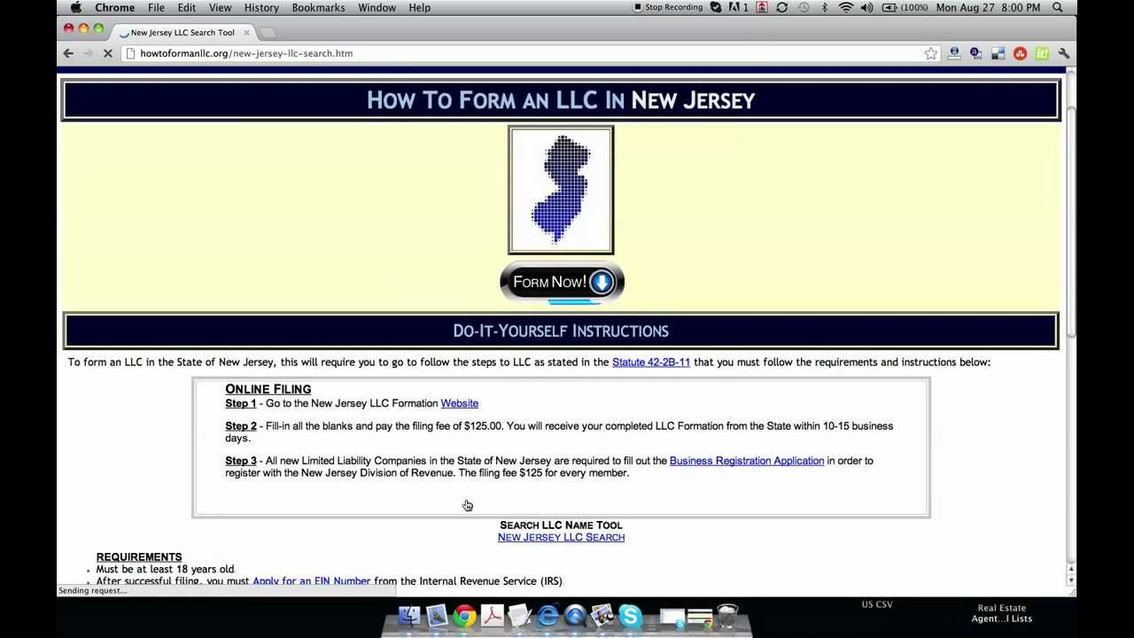 Form An Llc In New Jersey
