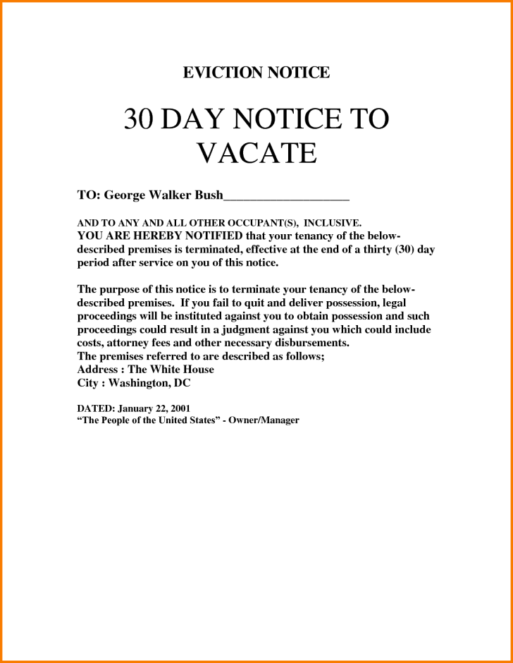Form For Eviction Notice For Tenant Ontario