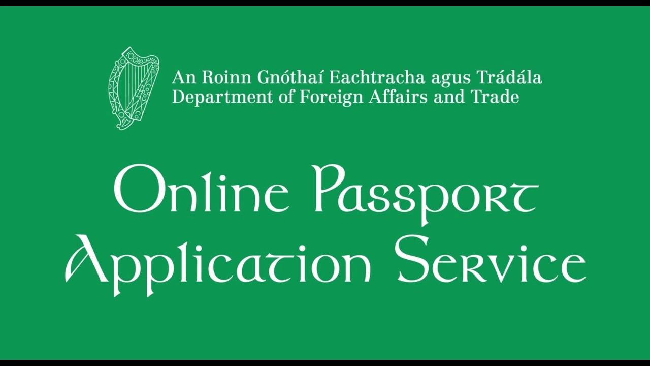 Form For Renewing Irish Passport