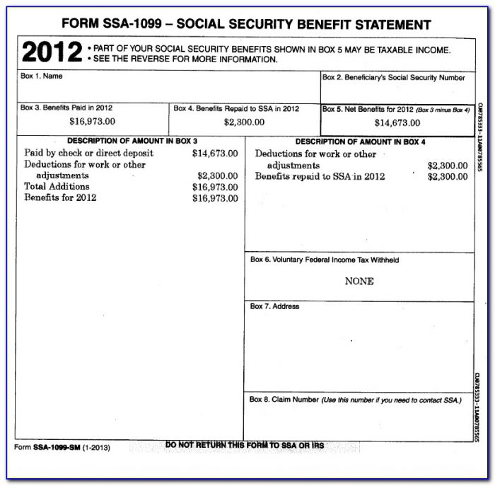 Form Ssa 1099 Online