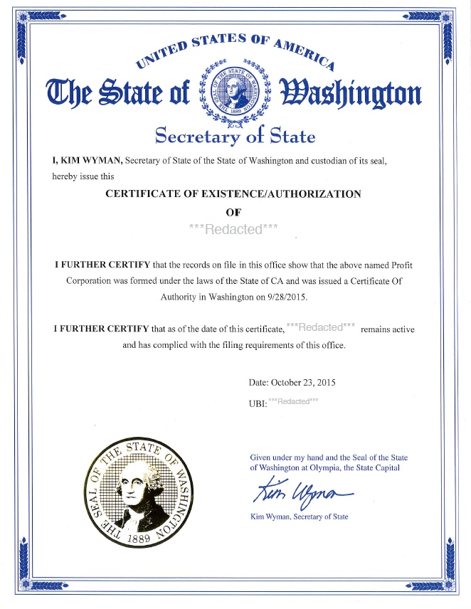 Formation Of Llc In Washington State