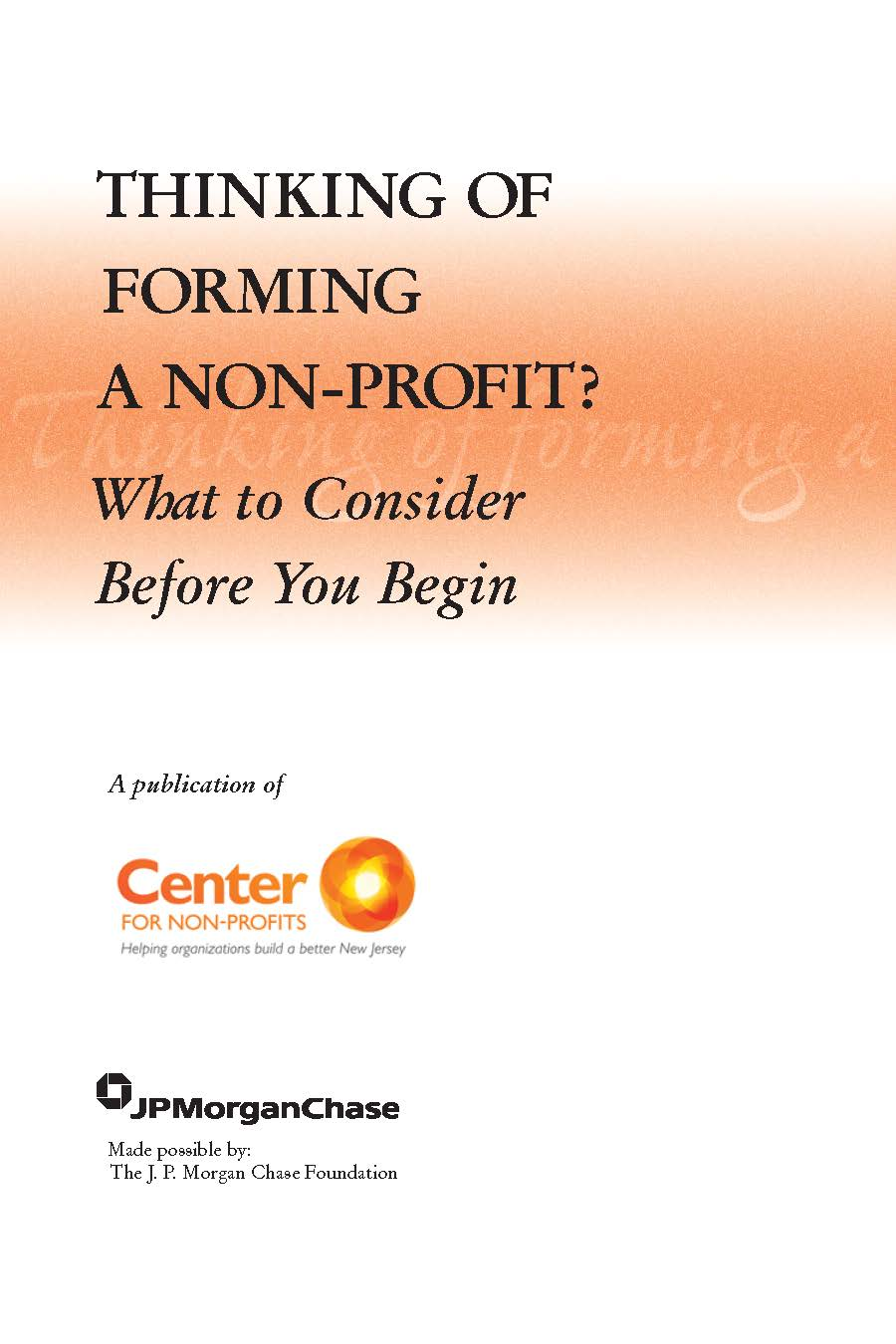 Forming A Nonprofit Organization In Maryland