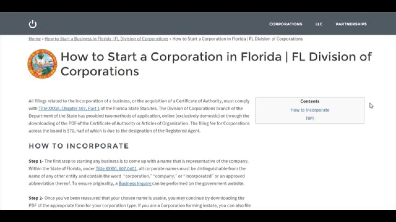 Forming A S Corporation In Florida