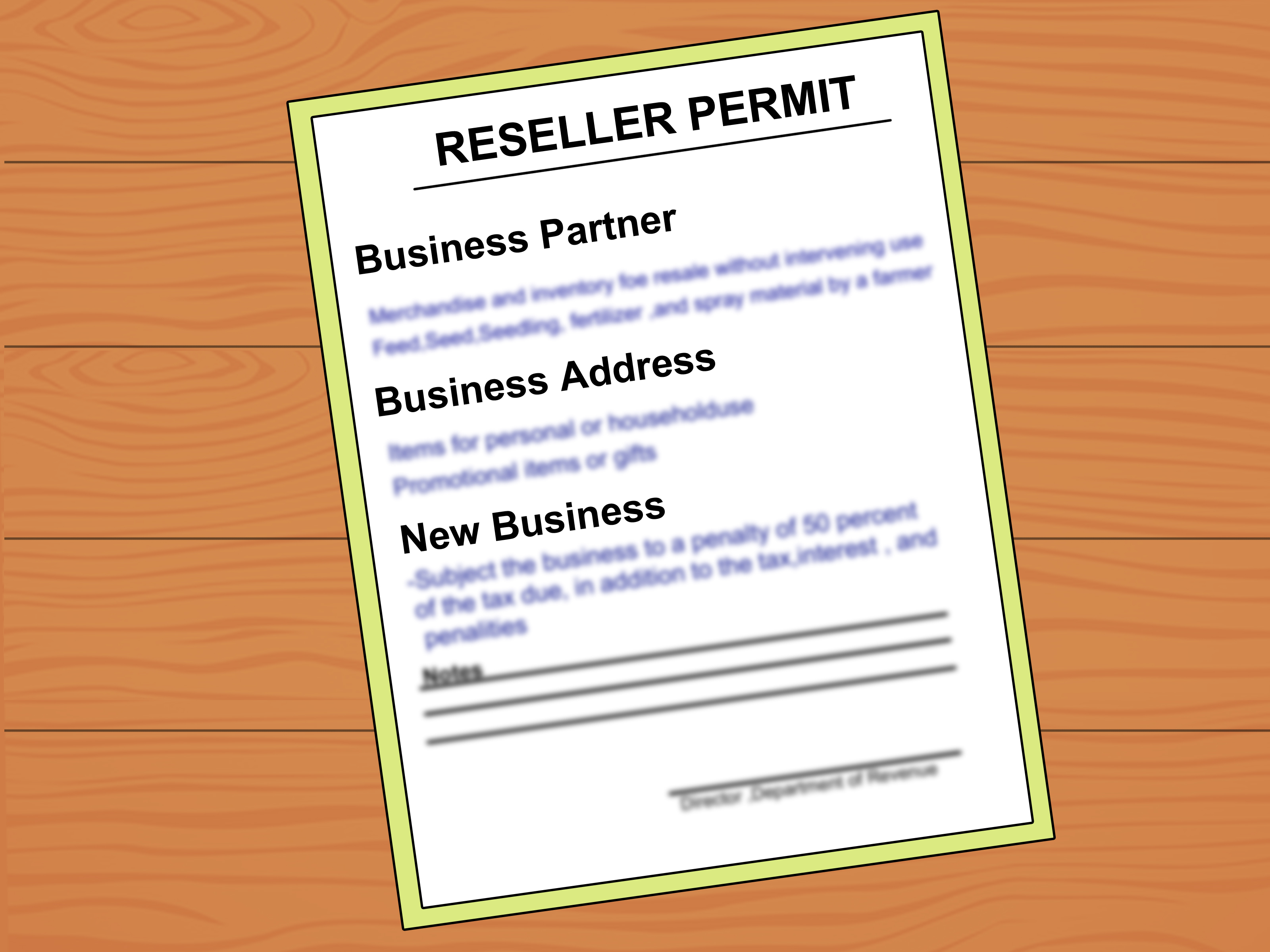 How To Get A Resale Number: 8 Steps (with Pictures) Wikihow Intended For How To Register A Business In Florida