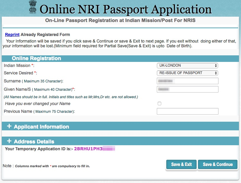 Forms For Passport Renewal India