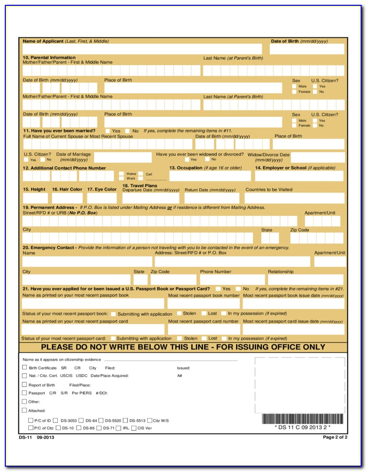 Forms For Passport Renewal Philippines