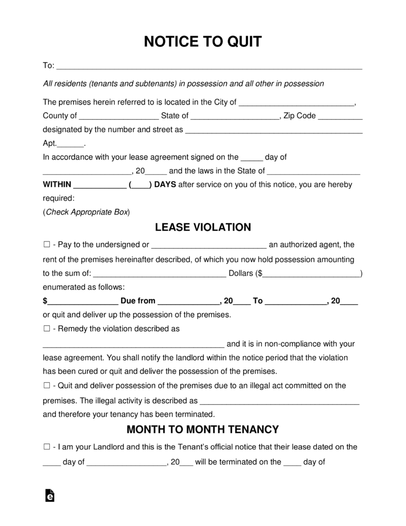 Forms Needed For Eviction