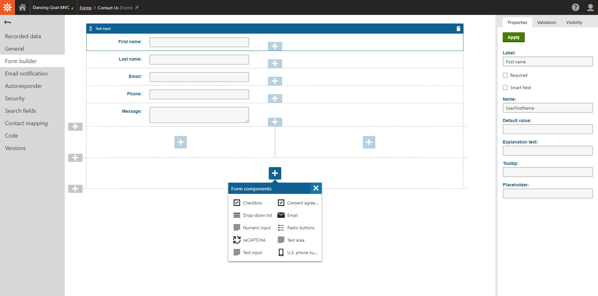 Free Asp.net Form Builder