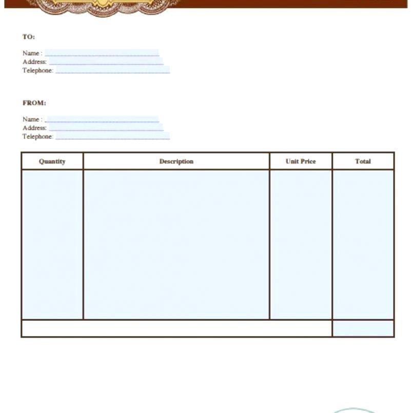 Free Auto Repair Invoice Form