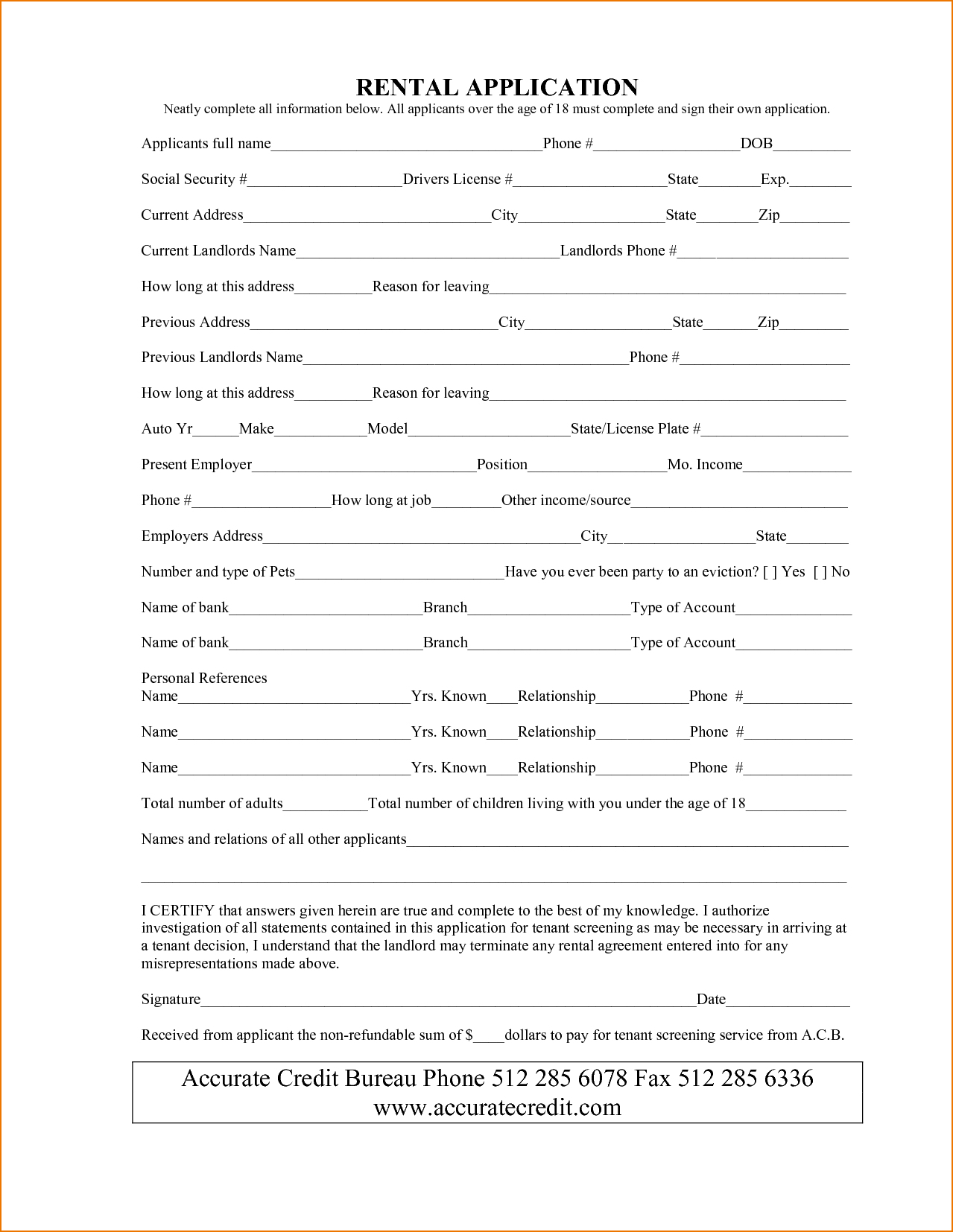 Free Basement Rental Agreement Form