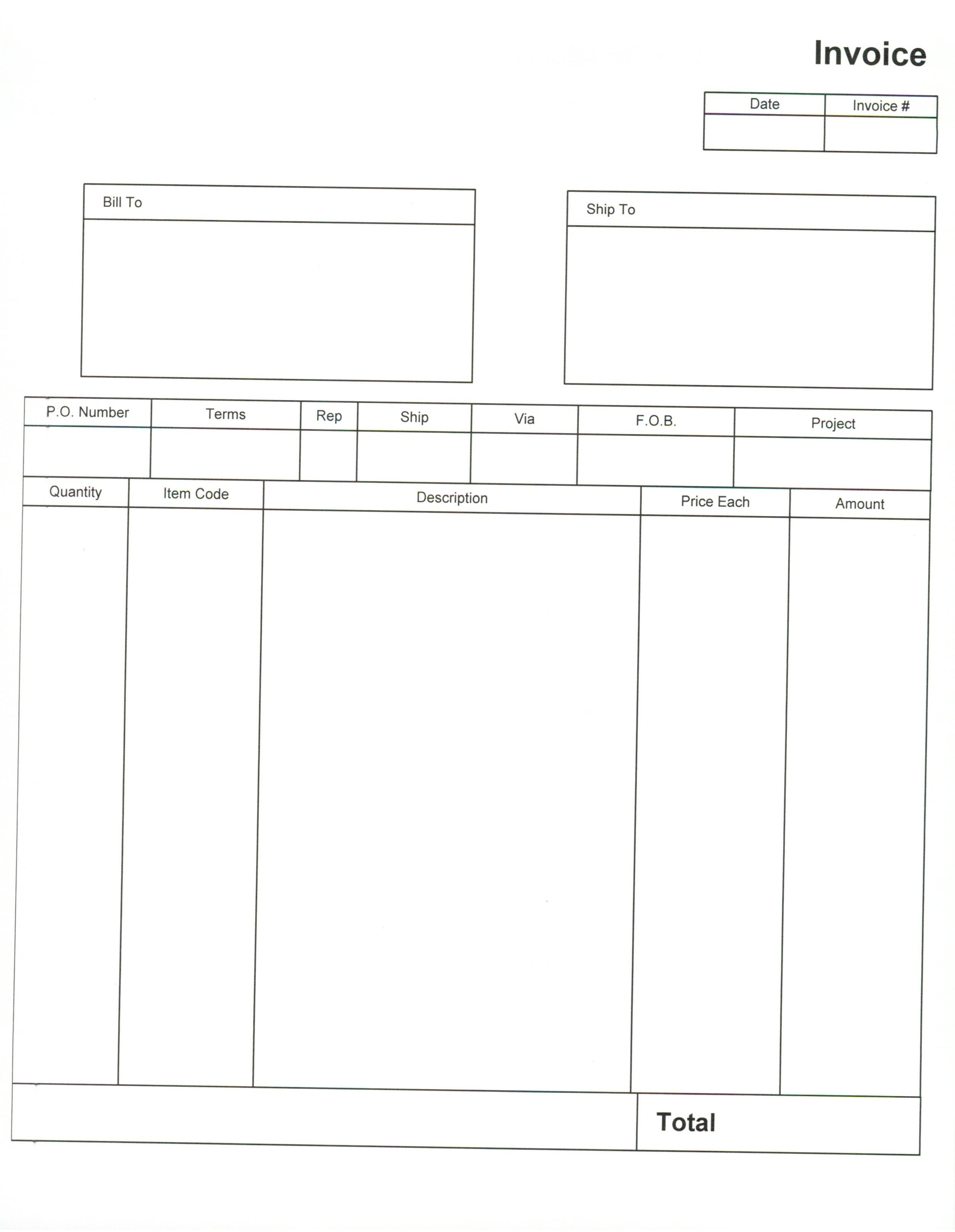 Blank Invoice Pdf Invoice Template Free 2016 Blank Invoice Form Pdf