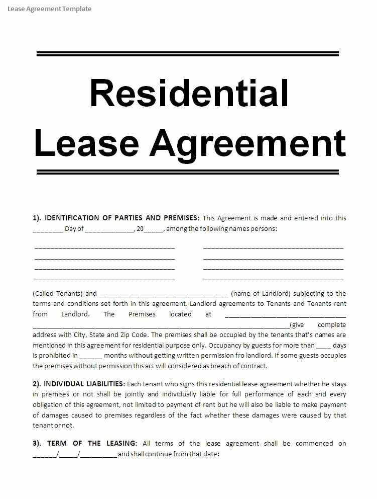 Free Blank Lease Agreement Form Texas Printable Sample Free Lease Agreement Template Form Real Estate Forms Word Pinterest