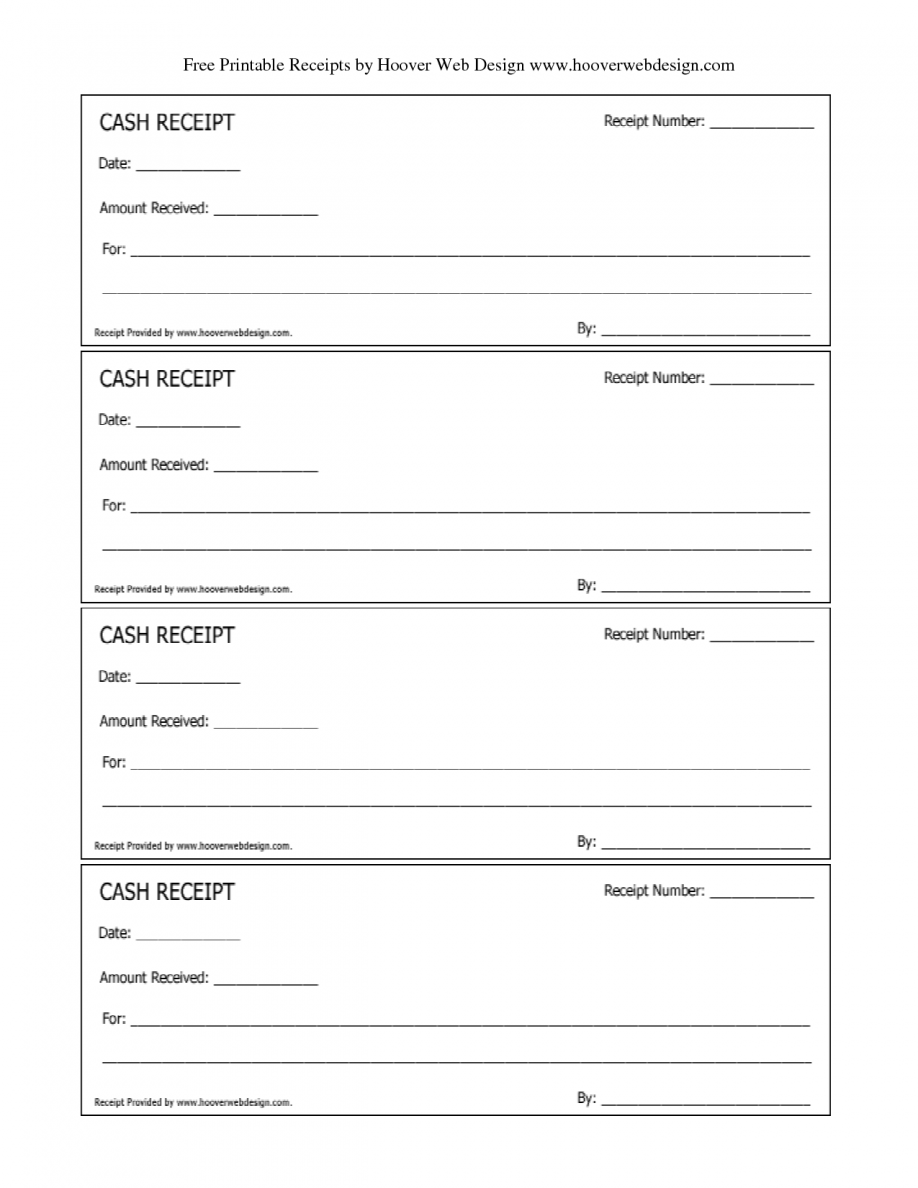 Free Blank Receipts Forms