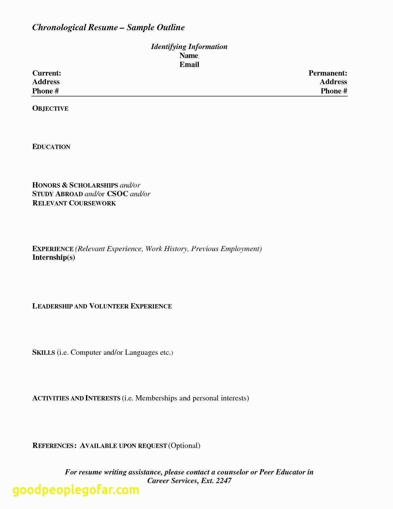 Free Blank Resume Templates Download Blank Chronological Resume Templates With Free Blank Resume Template