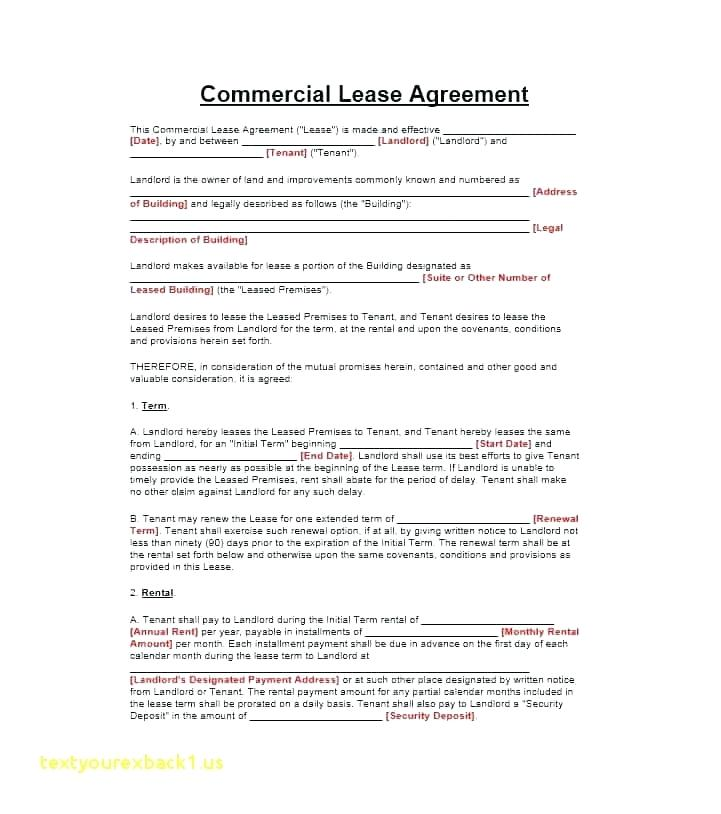 Free Commercial Lease Renewal Form