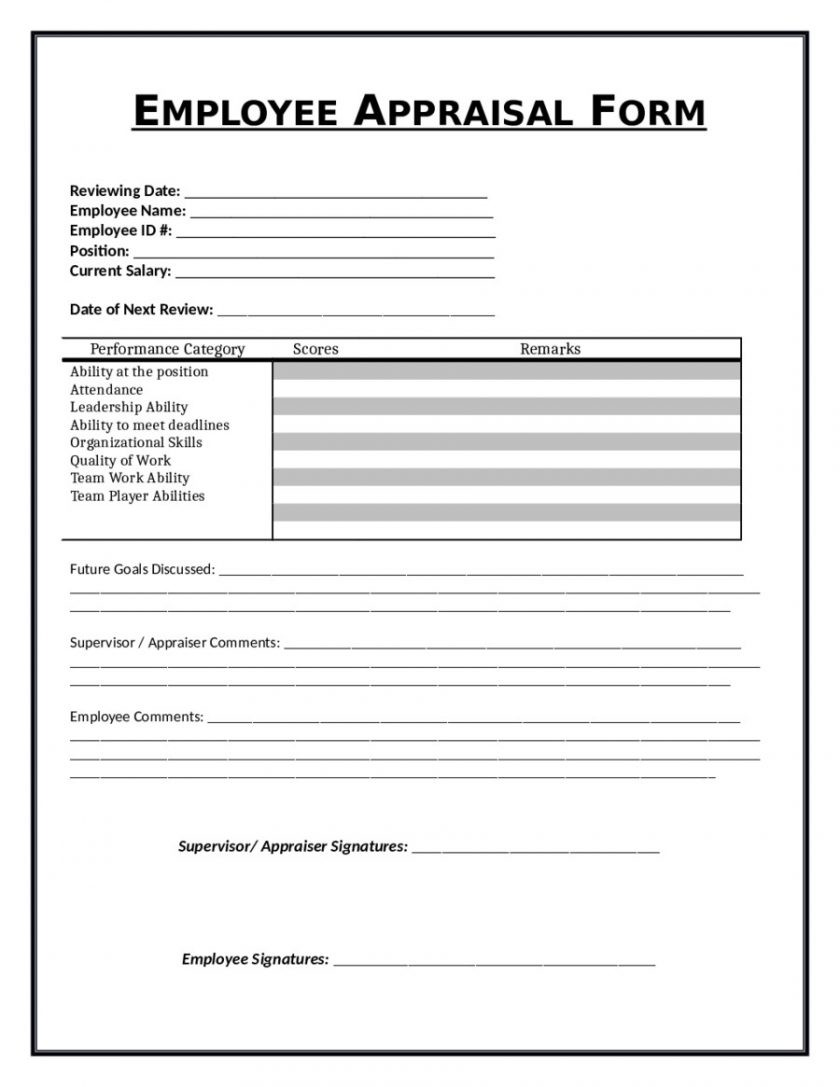 Free Daycare Employee Evaluation Forms