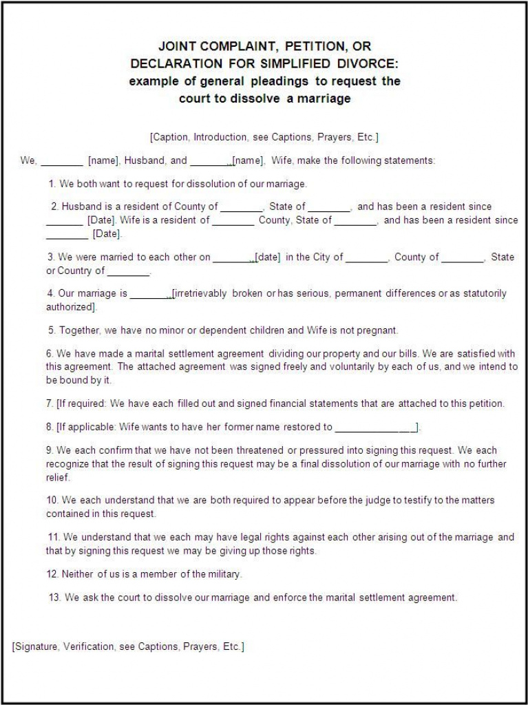 Divorce Forms | Free Word Templates Legal Divorce Papers | Real Pertaining To Free Printable Divorce Papers For Illinois