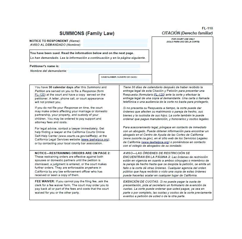 Free Divorce Forms For Georgia
