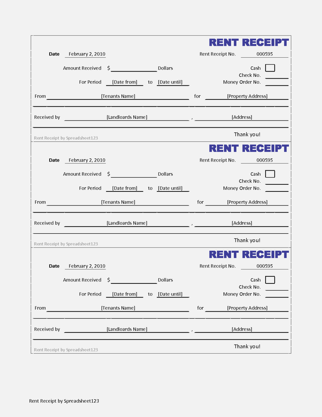 Free Download Rent Receipt Format In Excel
