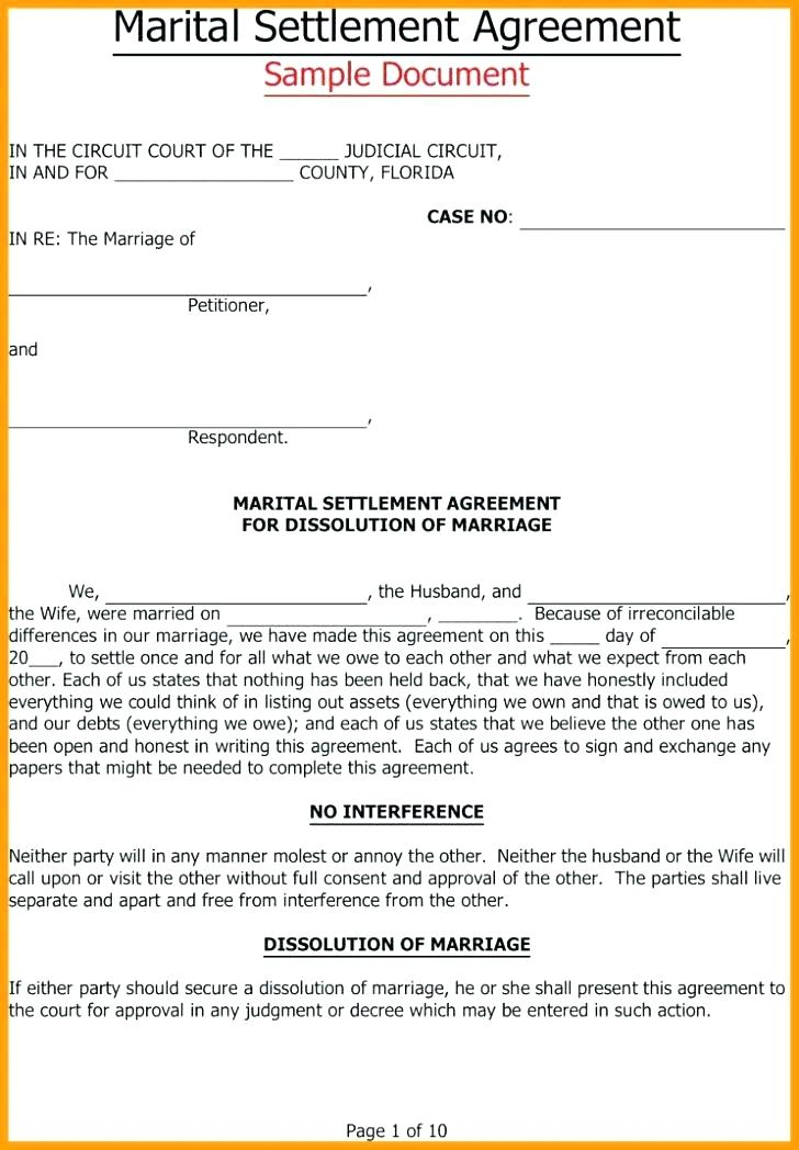 Free Downloadable Separation Agreement Forms