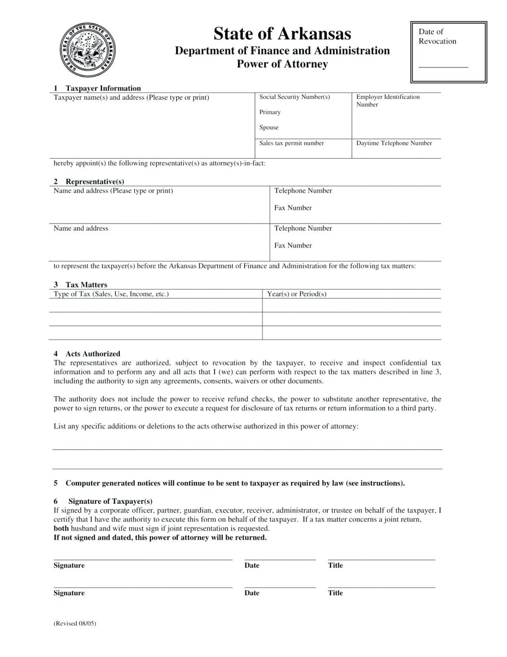 Free Durable Power Of Attorney For Health Care Form Missouri