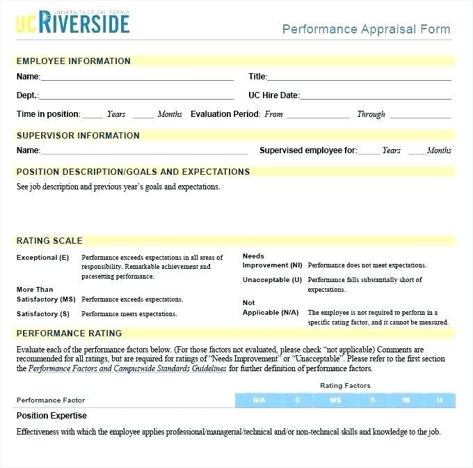 Free Employee Appraisal Forms Templates