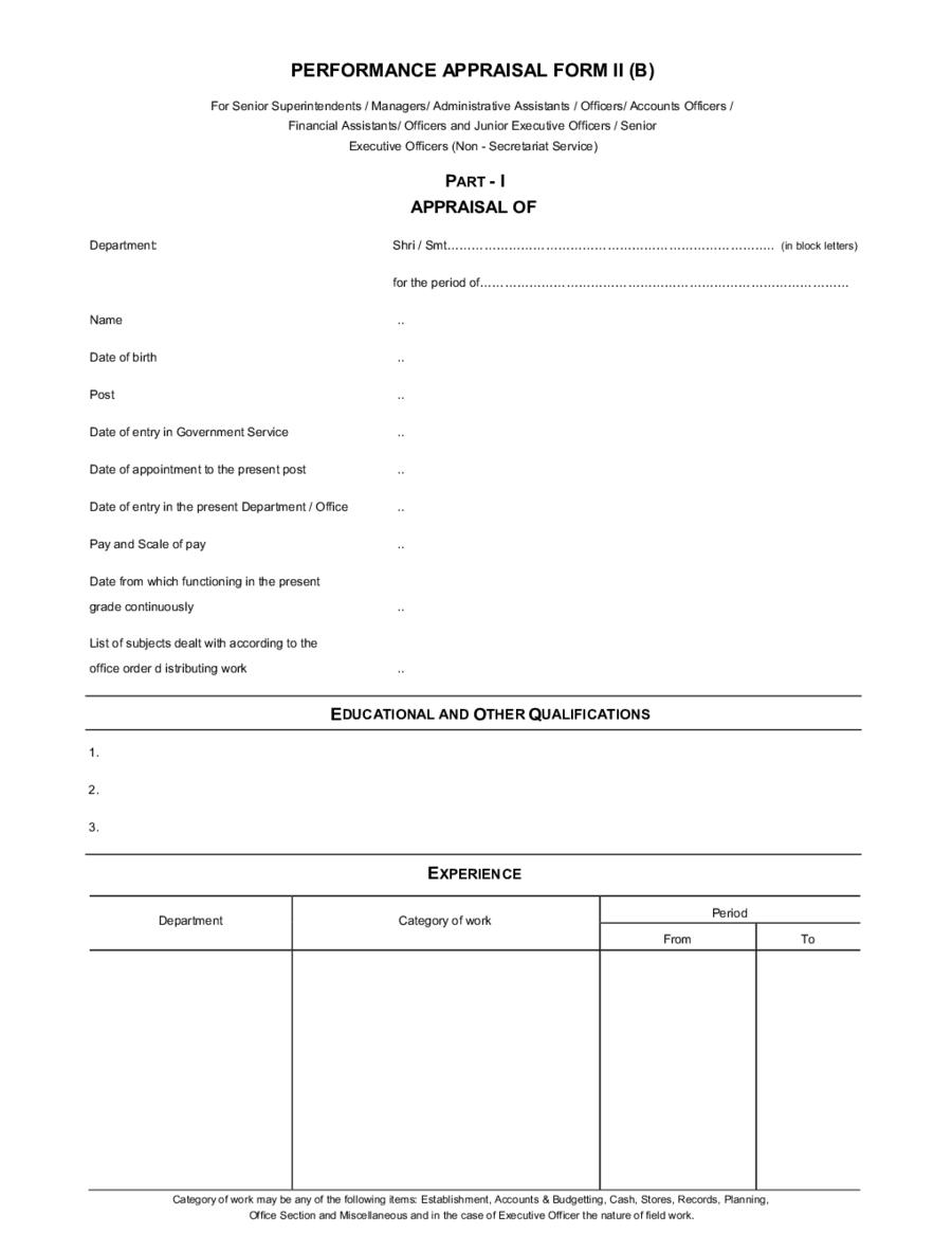 Free Employee Evaluation Forms Pdf