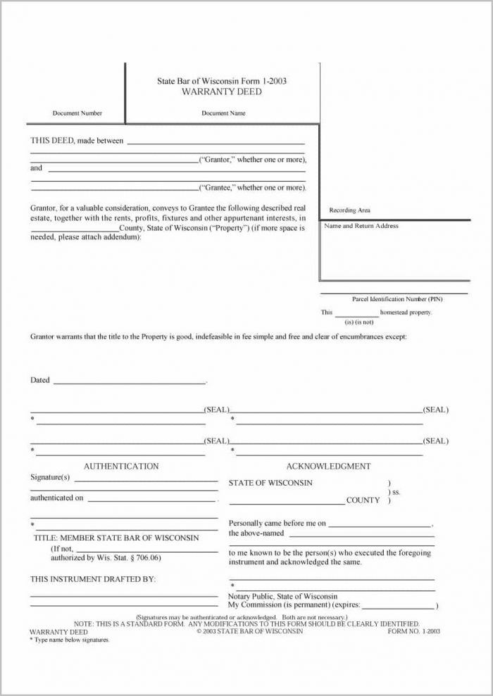 Free Florida Warranty Deed Form Download