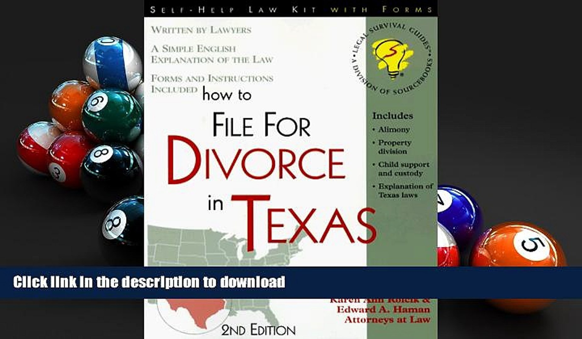 Free Forms To File For Divorce In Texas
