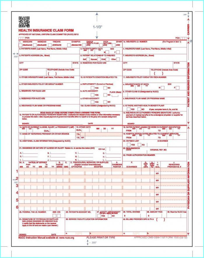 Free Hcfa Form 1500