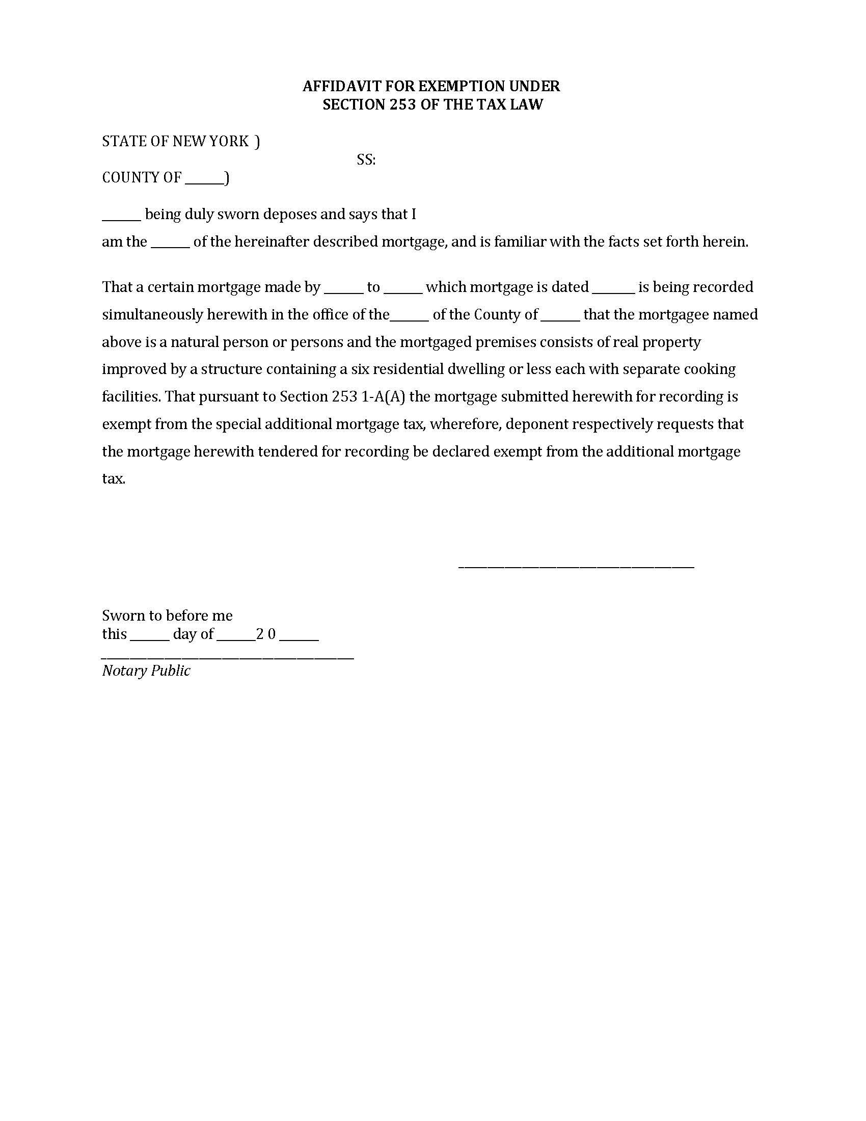 Free Heirship Affidavit Forms