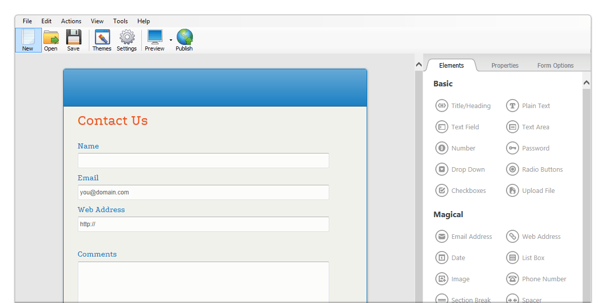 Free Html Forms Builder